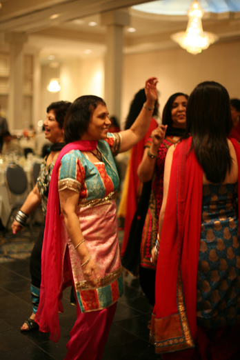 Dancing by the Lohri Partcipants